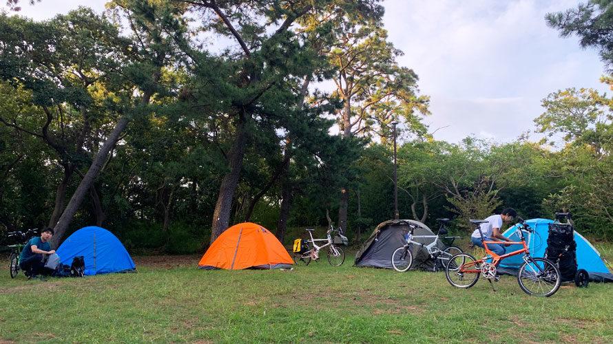タルタルーガ自転車キャンプツーリング